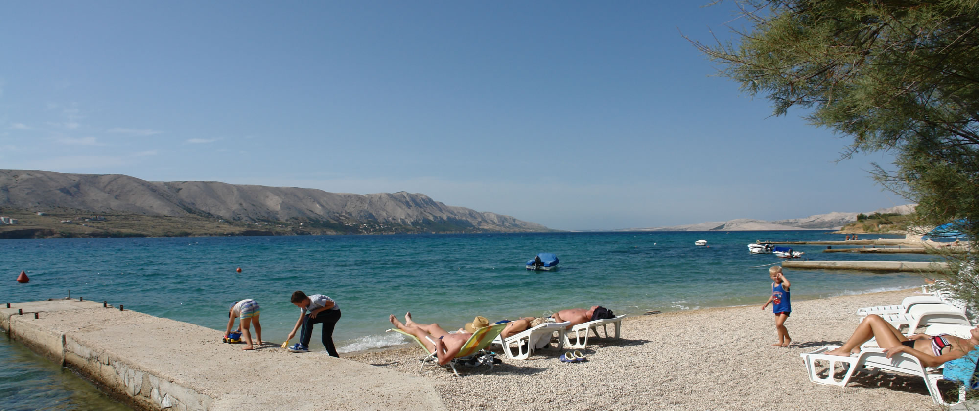 Beach on island of Pag